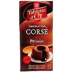 Chocolat patissier Tablette Or Noir corse 200g