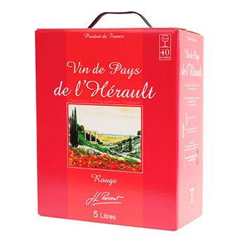produits  vin rouge pays de l herault vol bib