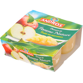 Andros compotee de pommes nature 4x100g