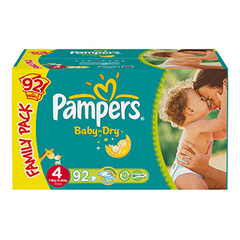 Couches Pampers Baby Dry Family pack T4 x92