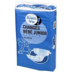 Couches Junior BIEN VU, 12 a 25kg, 44 unites