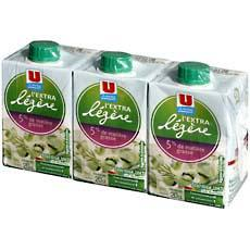 Specialite laitiere extra legere UHT U, 5%MG, 3x20cl