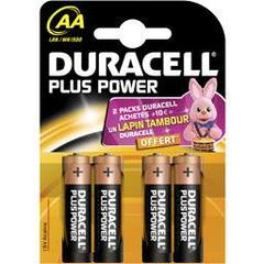 Piles Duracell Plus power Aa b4 x4