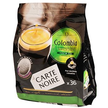 dosettes cafe carte noire colombia x36 250g tous les produits caf s en dosettes prixing. Black Bedroom Furniture Sets. Home Design Ideas
