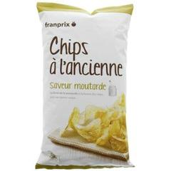 Franprix chips à l'ancienne à la moutarde 150g
