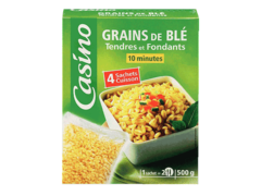Grains de ble tendres et fondants