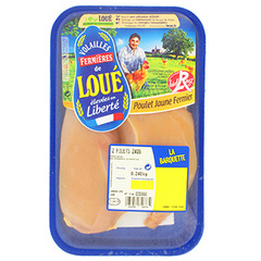 Filets de poulet jaune Loue Fermier x2 240g Origine France