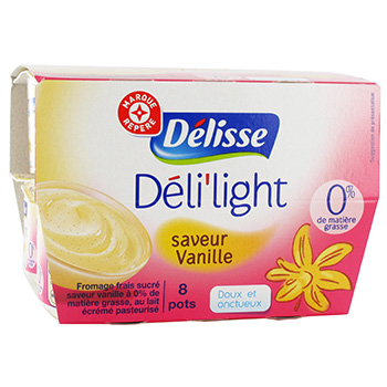 Fromage frais Delisse Vanille 0%mg 8x100g