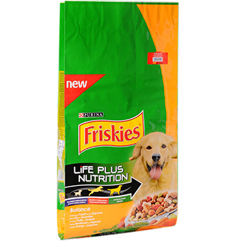 Friskies, Life Plus Nutrition - Aliment complet Balance chien adulte, le sac de 10kg