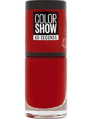 Gemey Maybelline Colorshow - Vernis à ongles -43 RED APPLE - Rouge Profond
