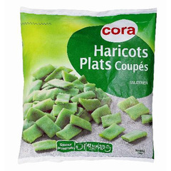 Haricots plats coupes
