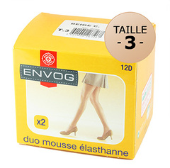 Collants Envog mousse Elasthanne Beige clair T3 x2