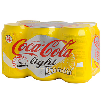 Coca Cola Light lemon 6x33cl