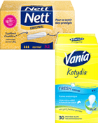 Tampons Normal sans applicateur + Protège-slips plats Fresh