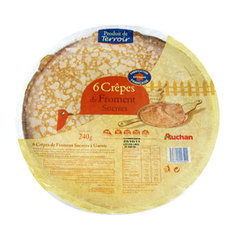 Auchan 6 crepes sucrees 240g