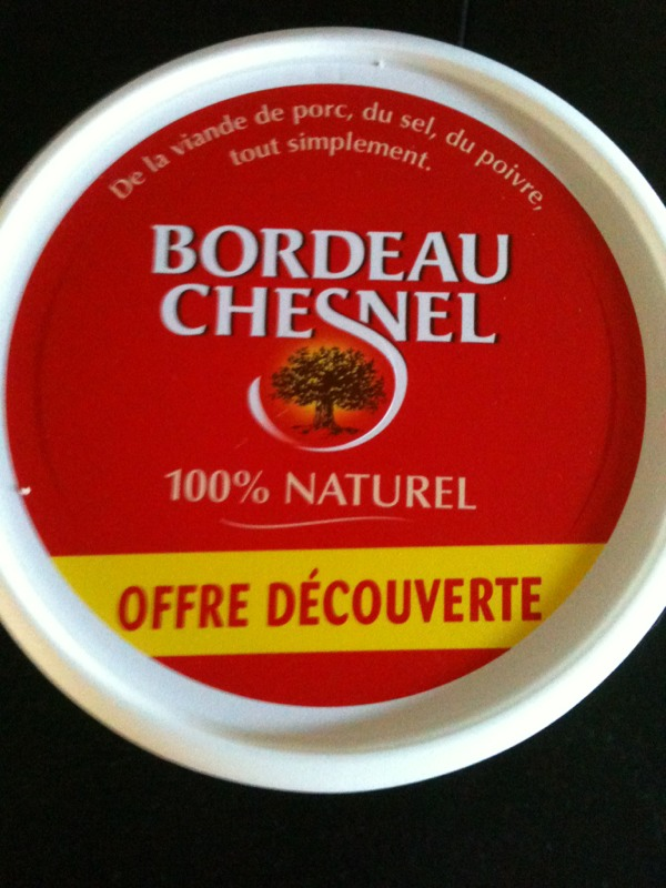 Bordeau Chesnel Rillettes du Mans La Véritable le pot de 400 gr -