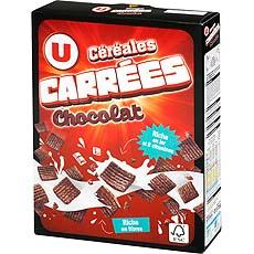 Cereales carrees au chocolat U, 375g
