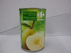Poires Williams demi-fruits, au sirop leger