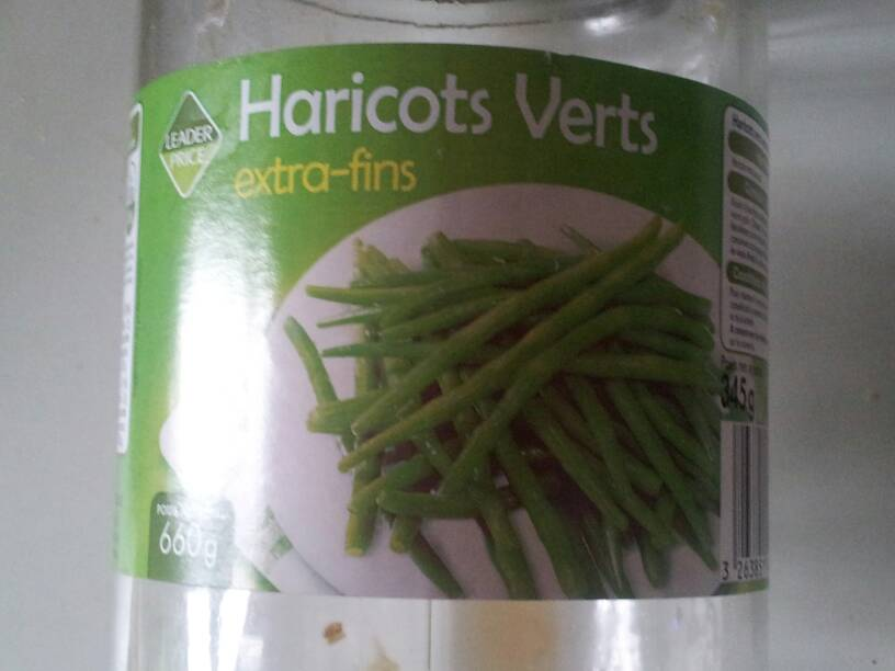 Haricots verts extra fins 345g