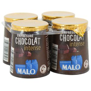 Empresure MALO chocolat noir intense pot carton 125 gr x 4