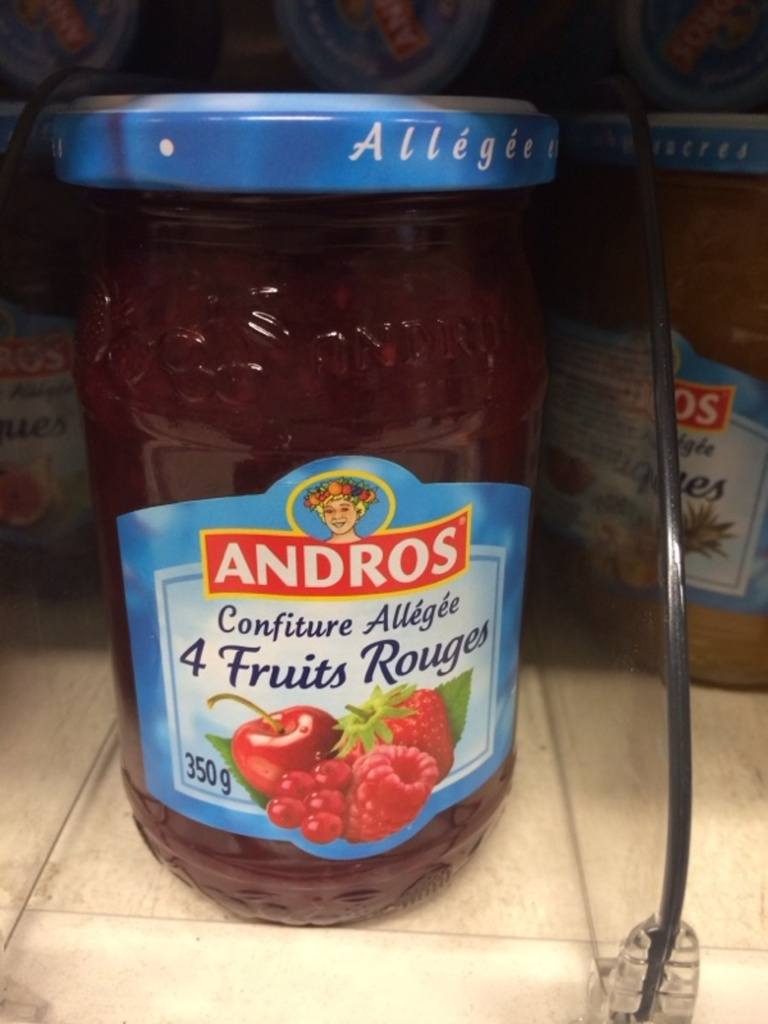 Andros confiture 4 fruits allègés 350g