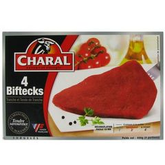 Biftecks CHARAL, 4 pieces, 400g