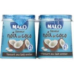 Malo yaourt aromatise coco lait entier 4x125g