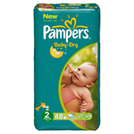 Pampers baby dry midpack change x48 taille 2