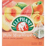 Elephant Infusion Pêche Miraculeuse/Abricot Pêche Goyave 20 Sachets - 38 g