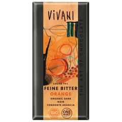 Vivani Bio Chocolat Noir Orange - Feine Bitter Orange 100g