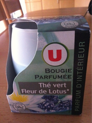 Bougie parfumee lotus-the vert U