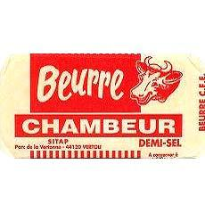 Beurre demi-sel CHAMBEUR, 500g