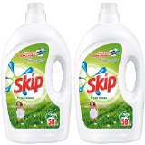 SKIP Fresh Clean Lessive Liquide 58 Lavages 4,06 L - Lot de 2