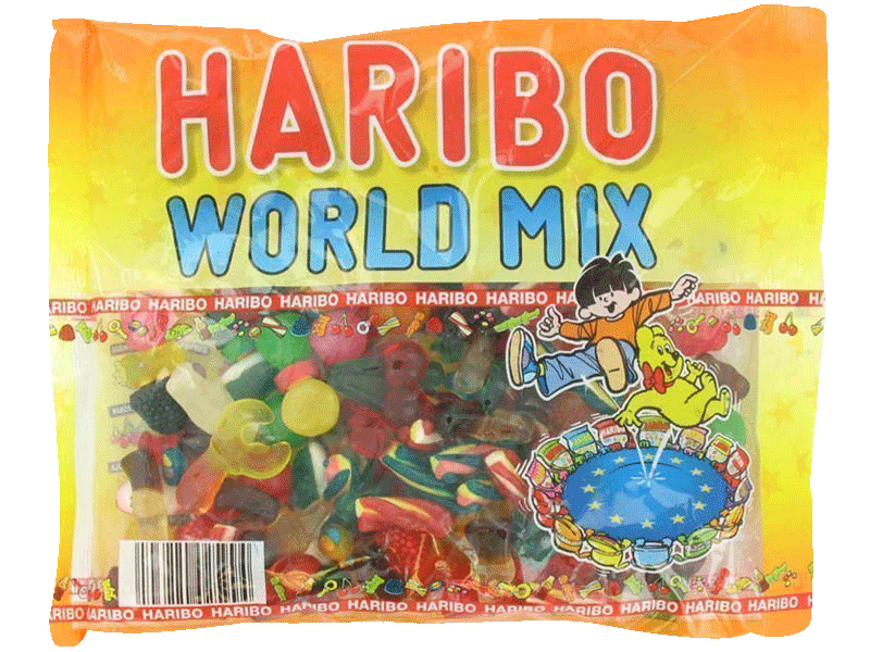 Assortiment de bonbons World-Mix HARIBO, 500g