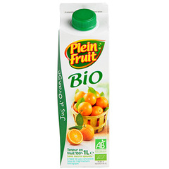 Jus d'orange bio Plein Fruit 1l