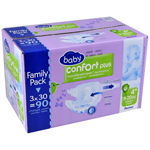 Auchan Baby change confort + family pack 9/20kg x90 taille 4
