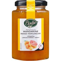 Elodie, Preparation a la mandarine, orange et pamplemousse, le pot de 300 gr