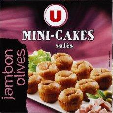 Mini cakes jambon olives U, 9 pieces, 108g