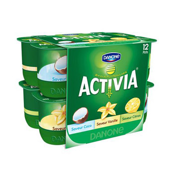 Yaourts coco/vanille/citron Activia