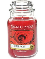 YANKEE CANDLE - BOUGIE PARFUMEE GANDE JARRE TRUE ROSE VERITABLE 623 G