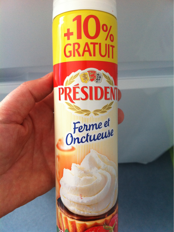 President creme entiere sous pression sterilisee sucree uht 250g