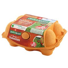 Oeufs fermiers de nos Regions Label rouge x6