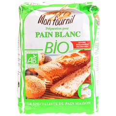 Preparation pain blanc bio 1kg mon fournil