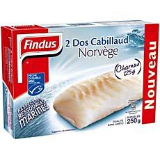 Dos de cabillaud FINDUS, 2 pieces, 250g