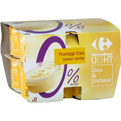 Fromage blanc sucre saveur vanille 0%