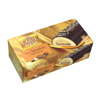 *buche speculoos vanille et biscuit carte d'or 900ml