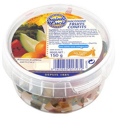 Macedoine de 4 fruits confits Sainte Lucie, 150g