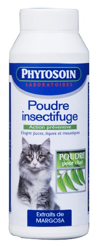 Phytosoin - 097573 - Poudre Insectifuge Chats - 150 g