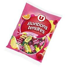 Bonbons tendres aux fruits U, 450g