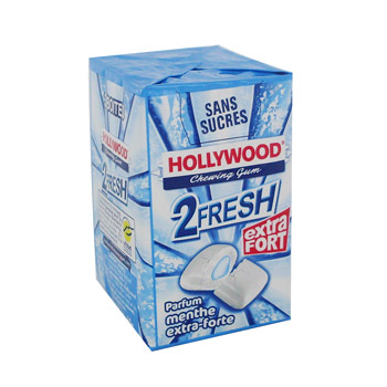 Holywood sans sucre 2 Fresh menthe extra forte, tripack de 10 dragees, 60g
